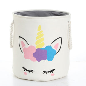 Unicorn Laundry Basket Cute 2 White - Unicorn in Wonderland