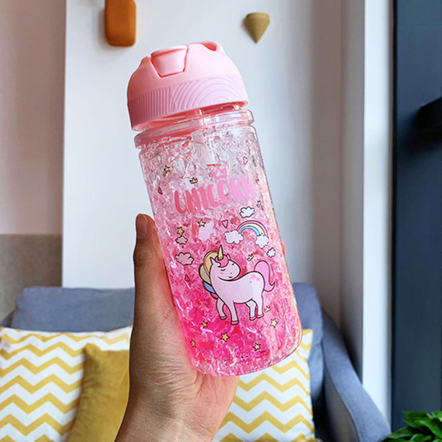 Unicorn Bottle Pink Transparent 500ml - Unicorn in Wonderland