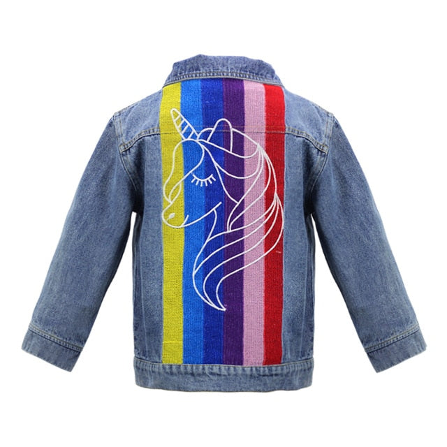 Unicorn Jacket Rainbow Blue - Unicorn in Wonderland