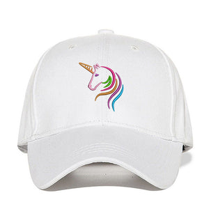 Unicorn Cap White Design - Unicorn in Wonderland