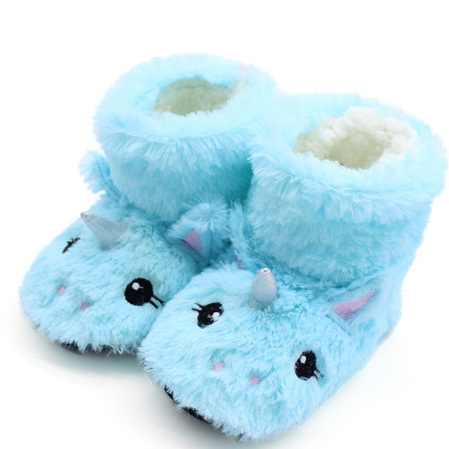 Unicorn Slipper Blue Tall Cute - Unicorn in Wonderland