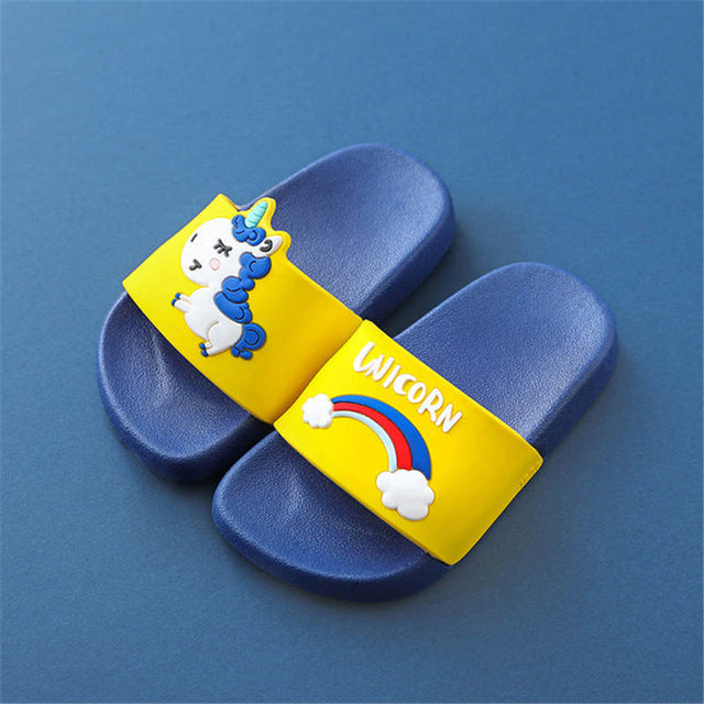 Unicorn Slipper Sandal Navy - Unicorn in Wonderland