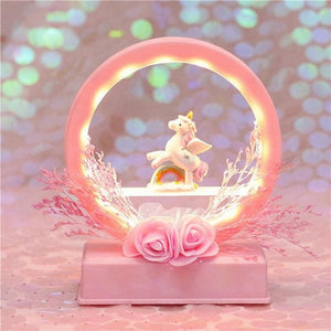 Unicorn Night Light Rainbow Batteries AAA (Not Included) - Unicorn in Wonderland