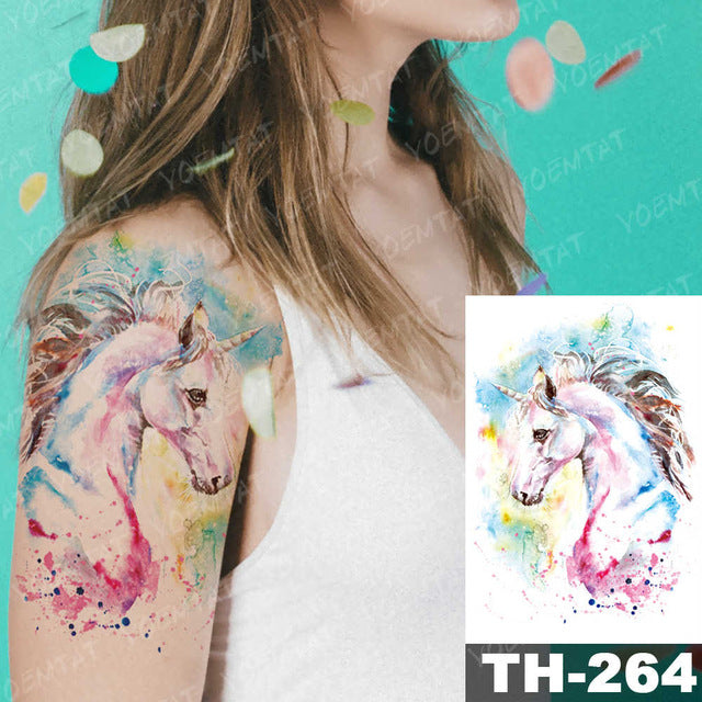 Unicorns Fake Tattoo Art - Unicorn in Wonderland