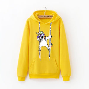 Unicorn Sweatshirt Dab Yellow - Unicorn in Wonderland