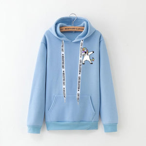 Unicorn Sweatshirt Small Dab Blue - Unicorn in Wonderland