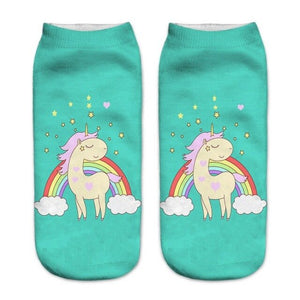 Unicorn Sock Woman Rainbow - Unicorn in Wonderland