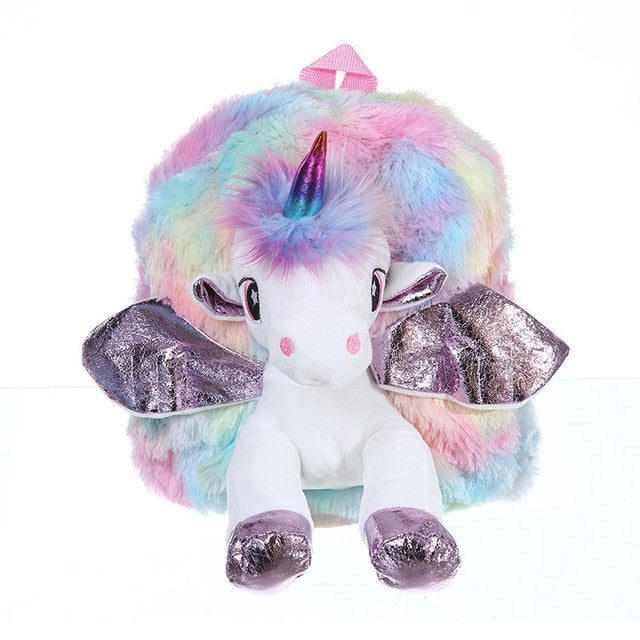 Unicorn Backpack Plush Pink - Unicorn in Wonderland