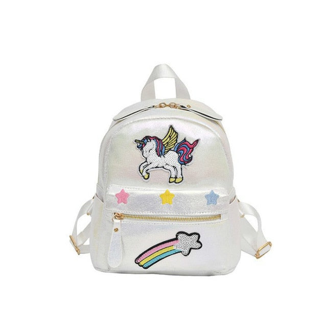 Unicorn Backpack Shooting Star White - Unicorn in Wonderland
