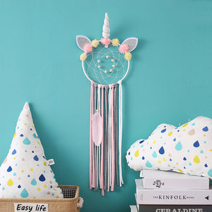 Unicorn Dream Catcher Cute One Feather - Unicorn in Wonderland