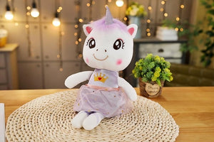 Unicorn Plush Calm Doll Purple 45cm - Unicorn in Wonderland