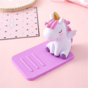 Unicorn Support Mobile Phone Purple - Unicorn in Wonderland