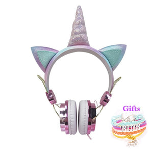 Unicorn Headphone Diamond With Microphone - Unicorn in Wonderland
