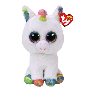 Unicorn Plush White Multicolor Horn 15cm - Unicorn in Wonderland