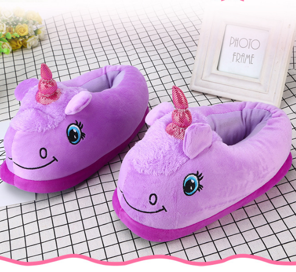 Unicorn Slipper Purple Full Sheep - Unicorn in Wonderland