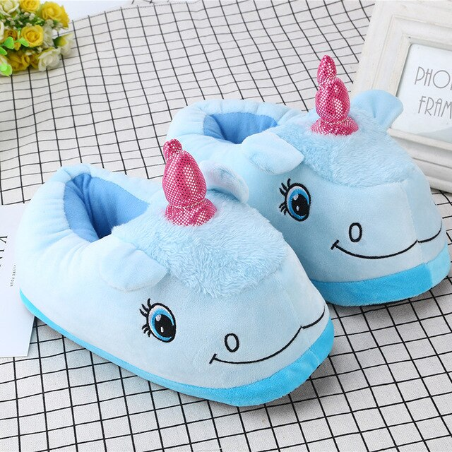 Unicorn Slipper Blue Full Sheep - Unicorn in Wonderland