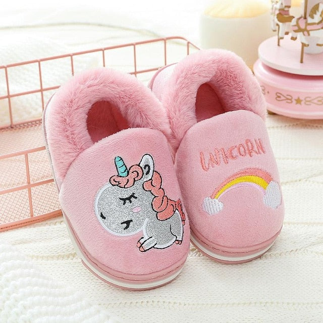 Unicorn Slipper Rose Rainbow - Unicorn in Wonderland