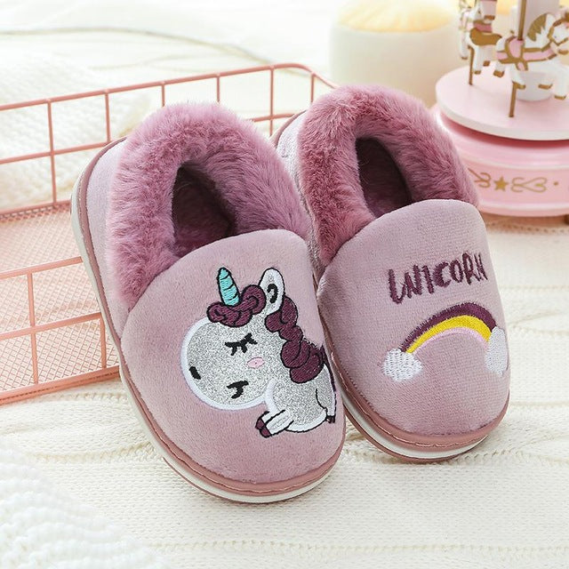 Unicorn Slipper Purple Rainbow - Unicorn in Wonderland