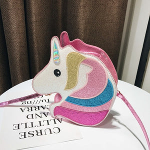 Unicorn Handbag Head Shape Pink - Unicorn in Wonderland