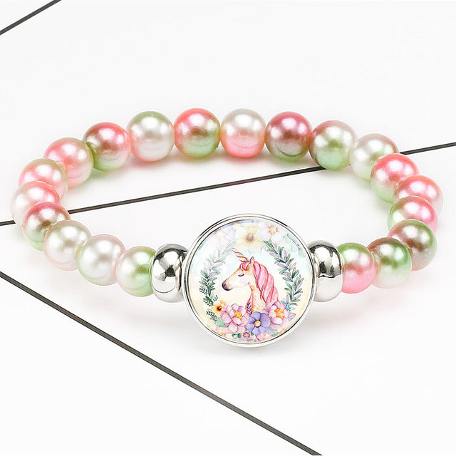 Unicorn Bracelet Flowers So In Love - Unicorn in Wonderland