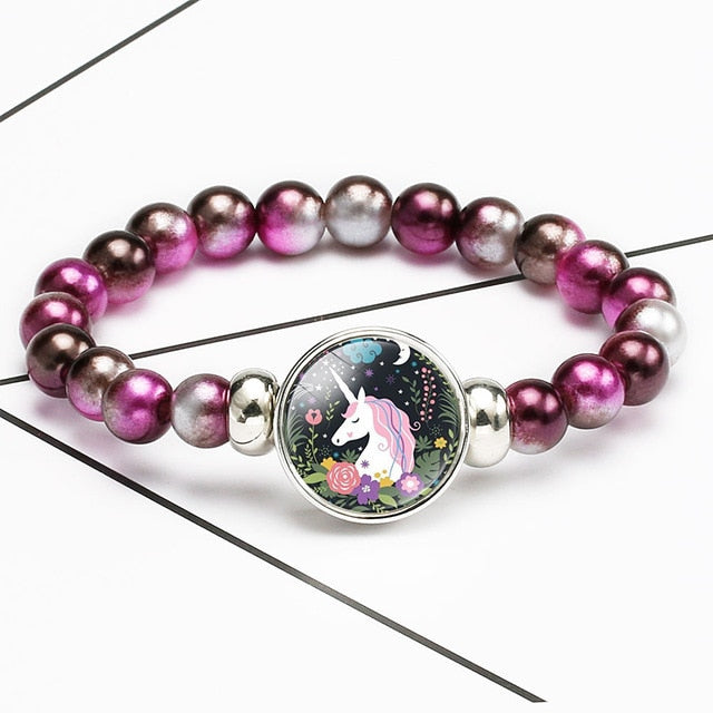 Unicorn Bracelet Pride Flowers - Unicorn in Wonderland