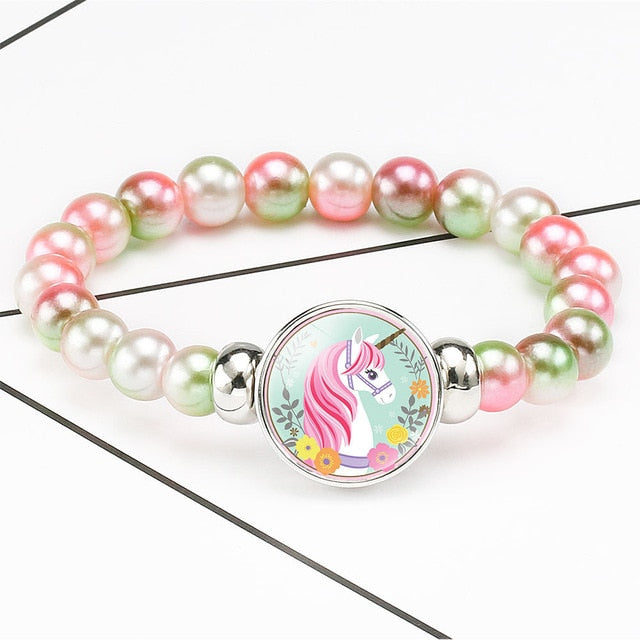 Unicorn Bracelet Princess Flowers - Unicorn in Wonderland