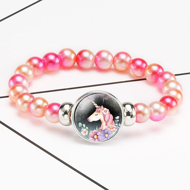 Unicorn Bracelet Cute Flower - Unicorn in Wonderland