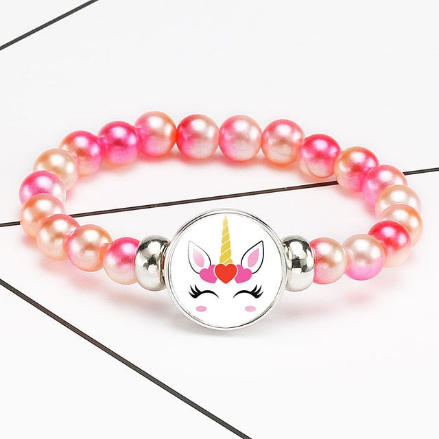 Unicorn Bracelet Cute Hearts - Unicorn in Wonderland
