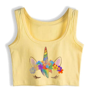Unicorn Crop Top Calm Yellow - Unicorn in Wonderland