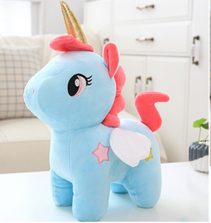Unicorn Plush Stars Blue 20cm - Unicorn in Wonderland