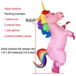 Unicorn Costume Multicolor Hair Adult - Unicorn in Wonderland