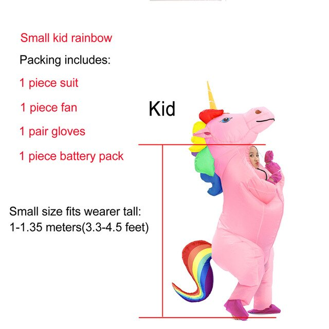 Unicorn Costume Multicolor Hair Child - Unicorn in Wonderland