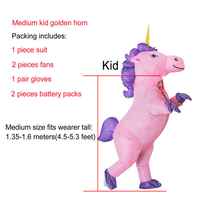 Unicorn Costume Purple Hair Medium Child - Unicorn in Wonderland