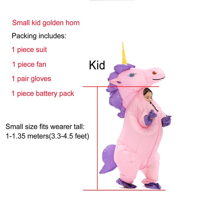 Unicorn Costume Purple Hair Child - Unicorn in Wonderland