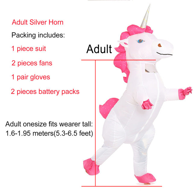 Unicorn Costume Pink Hair Adult - Unicorn in Wonderland