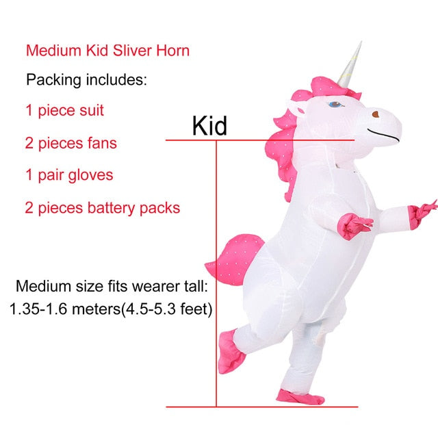 Unicorn Costume Pink Hair Medium Child - Unicorn in Wonderland