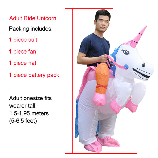 Unicorn Costume Riding White Adult - Unicorn in Wonderland