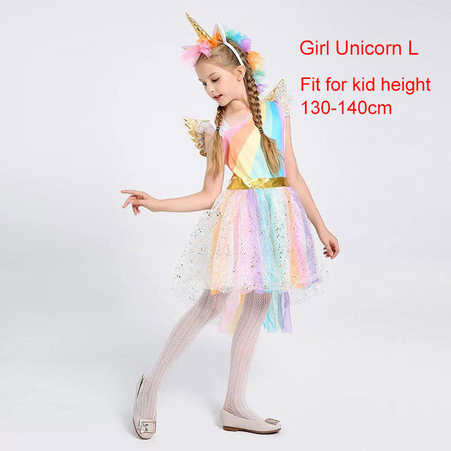 Unicorn Costume Fairy White L - Unicorn in Wonderland