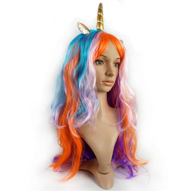 Unicorn Wig Orange Hair - Unicorn in Wonderland