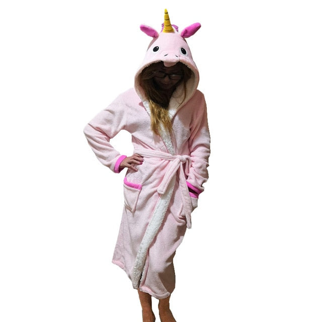 Unicorn Bathrobe Normal Pink Adult