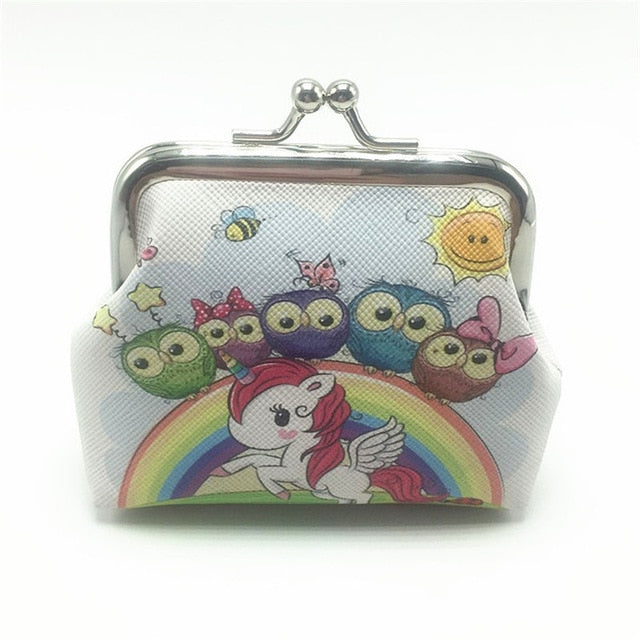 Unicorn Showing Rainbow Wallet - Unicorn in Wonderland