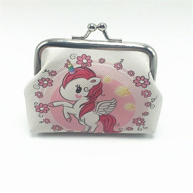 Unicorn Showing Flowers Wallet - Unicorn in Wonderland