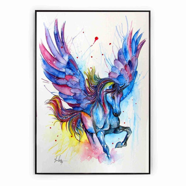 Unicorn Picture Multicolor Run 30x40cm - Unicorn in Wonderland