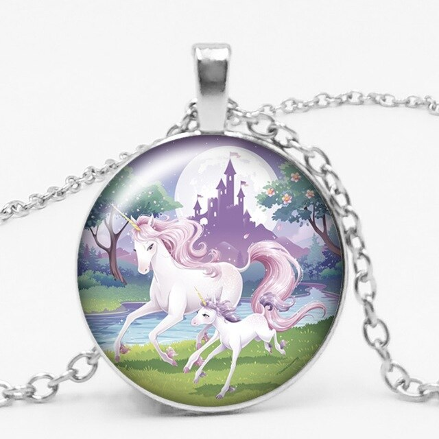 Unicorn Necklace Princess With Daughter Circle - Unicorn in Wonderland