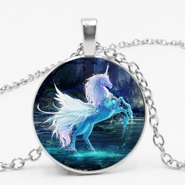 Unicorn Necklace Water Circle - Unicorn in Wonderland
