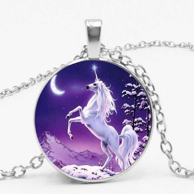Unicorn Necklace Showing Circle - Unicorn in Wonderland