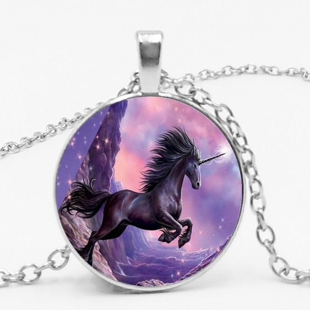 Unicorn Necklace With Daughter Circle - Unicorn in Wonderland