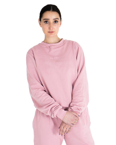 Luna Crewneck - Dusty Pink