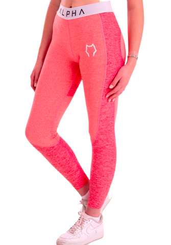 Athena Contoured Leggings - Candy Floss Pink