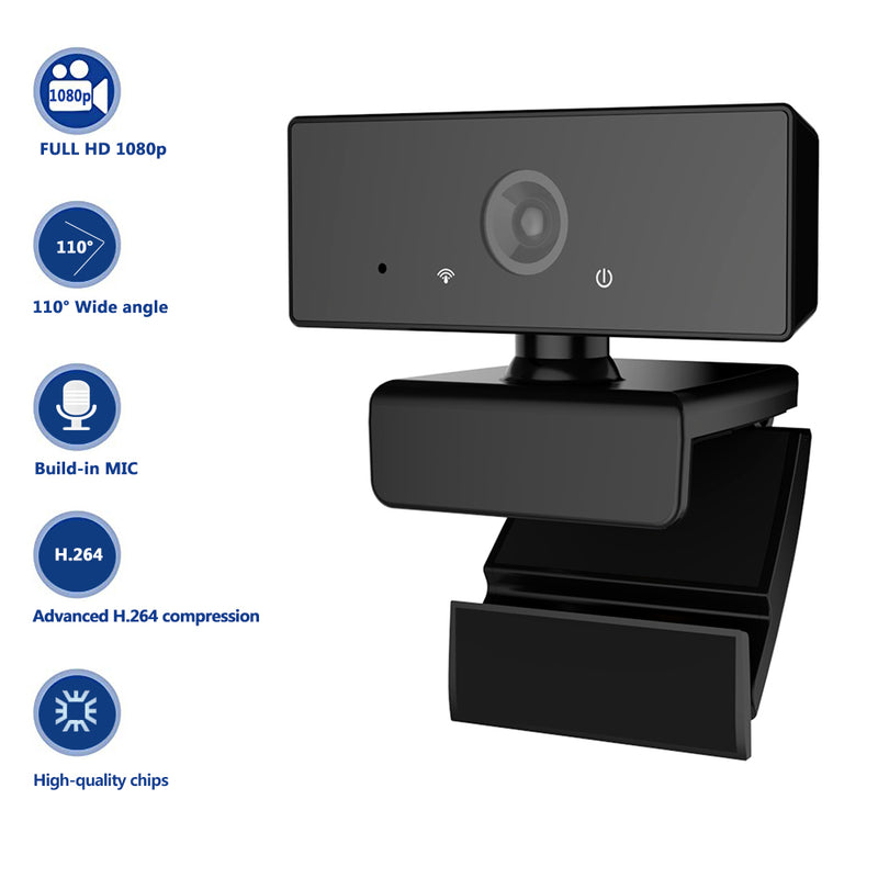 2020 TRANSJEE New Arrival! 1080P full hd webcam with mic for work and study  usb PC Laptop Web Cam camera
